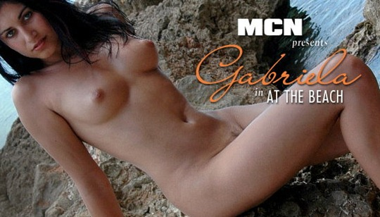 mc nudes gabriela playing naked at the beach